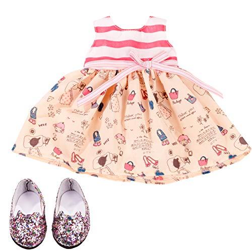 Götz 3403217 Kombination Wonderland - Puppenbekleidung Gr. XL - 3-teiliges Bekleidungs- und Zubehörset für...
