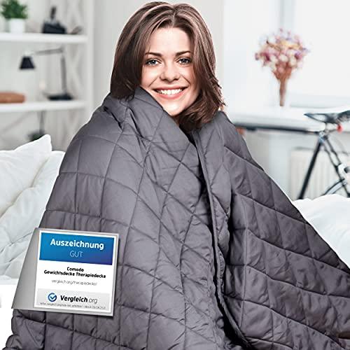 Comodo Gewichtsdecke – Therapiedecke – 7,2kg,152x203cm – Weighted Blanket – 100% Baumwolle – Für...