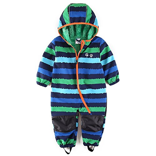 umkaumka Jungen Schneeoverall Softshell Overall Softshellanzug wasserabweisend Winddichtes Fleece Gr.98