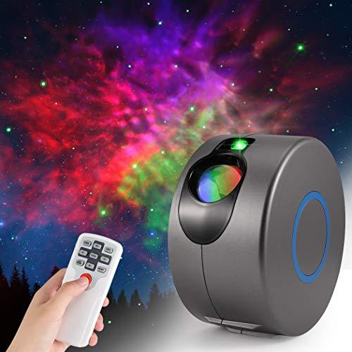 LED Galaxy Sternenhimmel Projektor, ZOTO 3D Sternenlicht Projektor Lamp mit Fernbedienung, 360° Drehung/7...