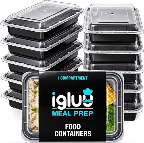 [10er Pack] 1-Fach Meal Prep Container Von Igluu - Essensbox, Lunchbox Mikrowellengeeignet, Spülmaschinenfest...