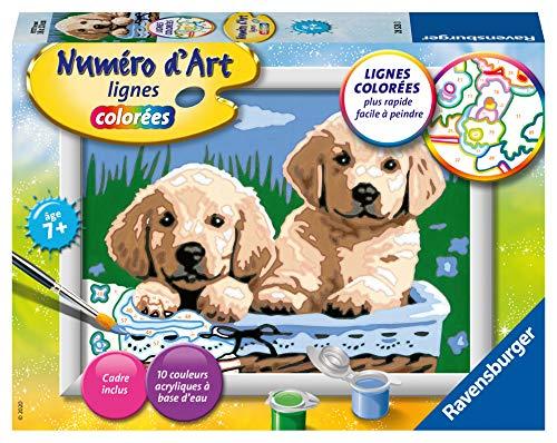 Ravensburger 4005556285280 Numéro d'art - Petit - Adorables chiots Kreativ