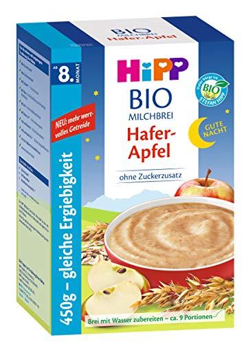 Hipp Bio-Milchbrei Gute-Nacht-Brei Hafer Apfel, 3er Pack (3 x 450g)