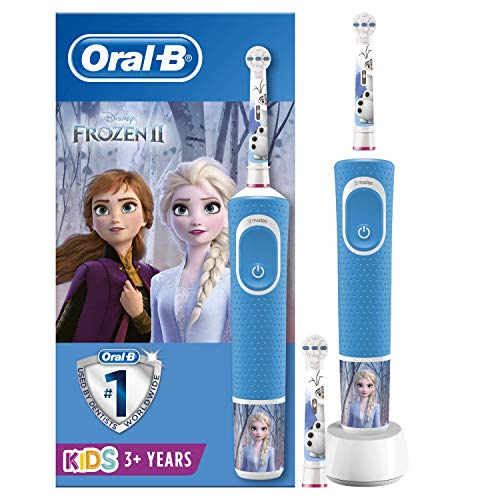 Oral-B Kids Frozen Elektrische Zahnbürste mit Disney-Stickern, 2 Aufsteckbürsten, für Kinder ab 3 Jahren,...