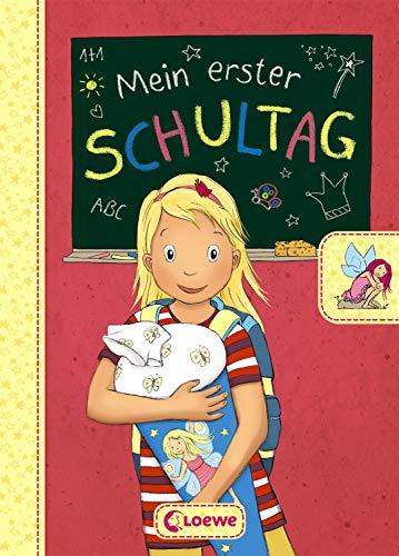 Mein erster Schultag - Feen: Eintragbuch zur Einschulung für Mädchen - Erinnerungsbuch zum Schulstart -...