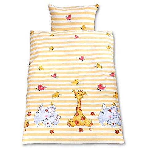 Gräfenstayn® 2-tlg. Kinderbettwäsche Set mit Tiermotiv und integriertem Reißverschluss - aus 100%...