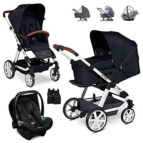 ABC Design Turbo 4 Kinderwagen Set 3in1 - Kombikinderwagen mit Babyschale, Sportwagen und XXL Zubehör -...