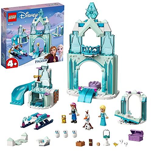 LEGO 43194 Disney Princess Annas und Elsas Wintermärchen, Eiskönigin Spielzeug zum Bauen mit Schloss und...