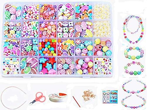 24 Arten Bunte Baby Stringing Perlen Spiel Schnürsystem Perlen Beads Spielzeug DIY Perlenschmuck für Kinder...