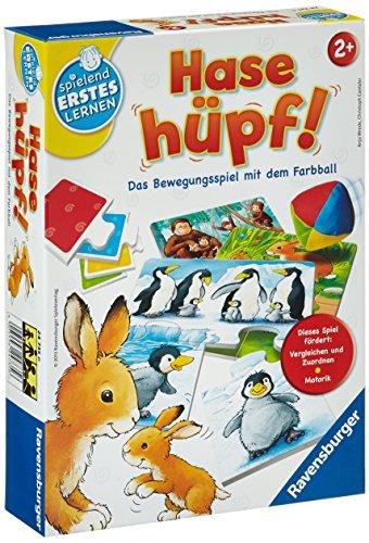 Ravensburger 24735 - Hase hüpf! - Bewegungsspiel für die Kleinen - Spiel für Kinder ab 2 Jahren, Spielend...