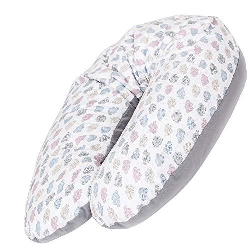 CEBA BABY Stillkissen - Schwangerschaftskissen aus 100% Baumwolle, mit EPS-Mikroperlen - Zertifiziert nach...