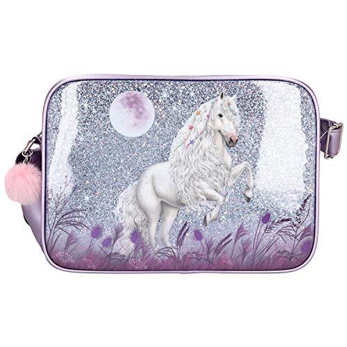 Depesche 10771 Miss Melody - Umhängetasche mit traumhaftem Pferde-Motiv, mit Reißverschluss und...