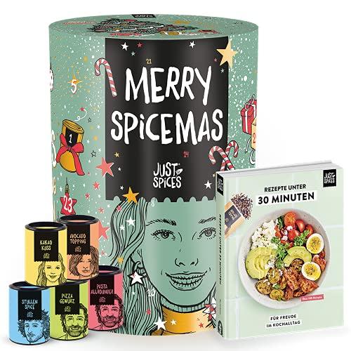 Just Spices Gewürz Adventskalender 2021 I Weihnachtskalender mit 24 Gewürzmischungen + brandneues Kochbuch I...