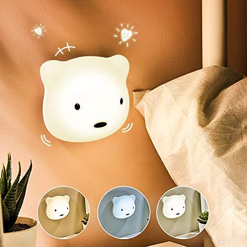 Etmury LED Nachtlicht Kinder, 3M Nachtleuchte Baby Touch Lampe für Schlafzimmer, Nachttischlampen mit Gelbem...