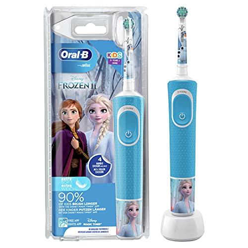 Oral-B Kids Frozen Elektrische Zahnbürste für Kinder ab 3 Jahren, kleiner Bürstenkopf & weiche Borsten, 2...