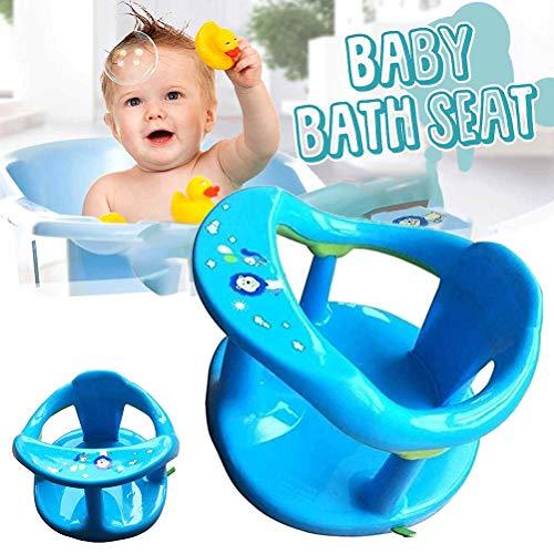 Babywannensitz - Badesitz Baby Ab 6 Monate, Für Badewanne, Aquababy-Badering Mit Rückenlehnenstütze & 4PCS...