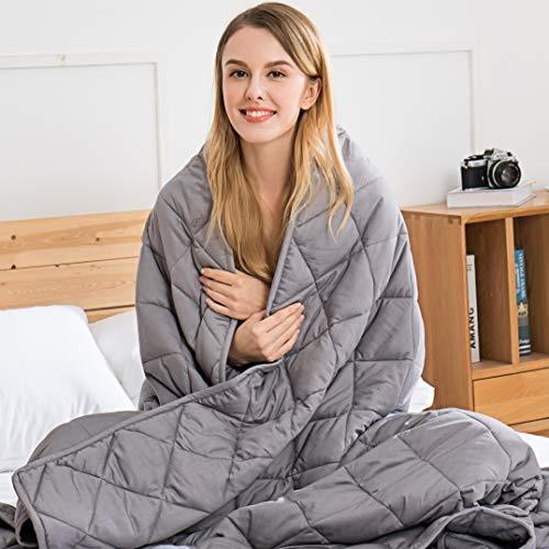 Jaymag Gewichtsdecke 135x200cm 7kg Therapiedecke für Kinder Erwachsene Schwere Decke für Besseren Schlaf,...
