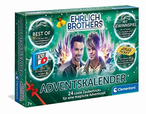 Clementoni 59180 Ehrlich Brothers Adventskalender der Magie, magischer Weihnachtskalender, mit 24 coolen...