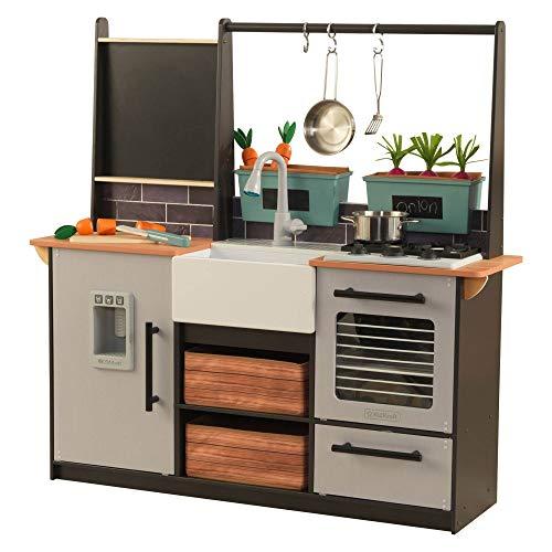 KidKraft Kinderküche: Eine Küche aus Holz mit Licht- und Geräuscheffekten