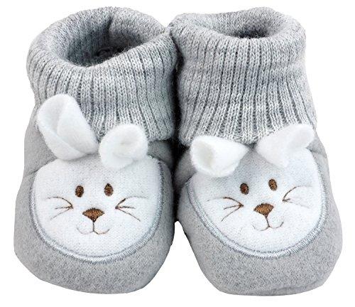 France Tendances Baby Schuhe Strickschuhe Erstlingsschuhe Mäuse das kleine Geschenk (0-3 Monate) Anthrazit