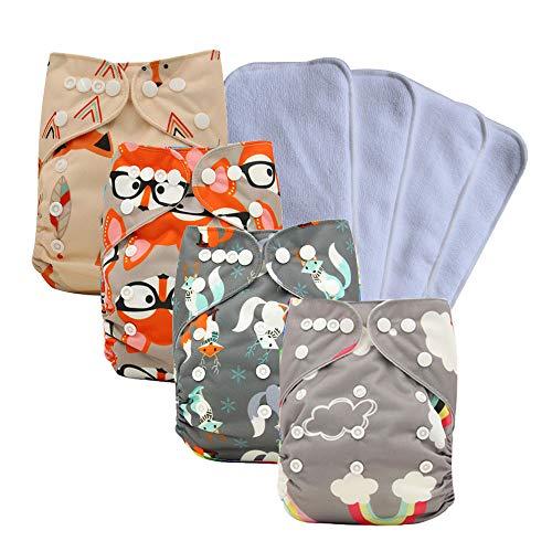 Ohbabyka Reusable Washable Baby Boys/Girls Pocket Cloth Diapers with 1pc Insertohbabyka Wiederverwendbare...
