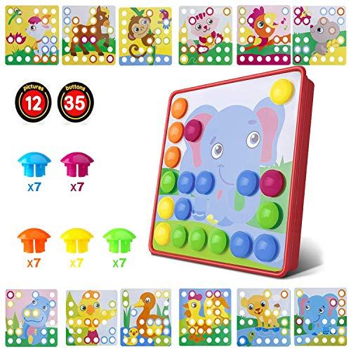 Kinder Buntes Steckspiel,Lernspielzeug Geschenke ,Mosaik Steckspiel für Kinder ab 3 Jahre,Kinderspielzeug...