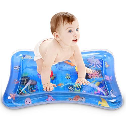Fanmad Wassermatte Baby Wasserspielmatte Baby Spielzeug - Aufblasbare Baby Wassermatte ab 3 Monate...
