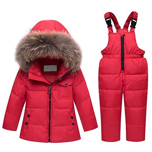 LPATTERN Baby/Kleinkind Jungen/Mädchen Winter 2tlg Bekleidungsset Schneeanzug Skianzug Zweiteiler...