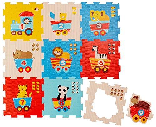 Bieco Puzzlematte, 19 tlg. | Spielmatte Baby | XXL Puzzle Kinder | Krabbeldecke Baby Spielmatte Kinder|...