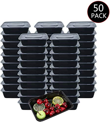 Meal Prep Boxen 1-Fach [50er Pack] Food Container Meal Prep Container Bento Box Hergestellt aus BPA-freiem...