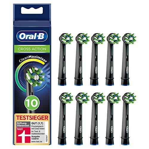 Oral-B CrossAction Black Edition Aufsteckbürsten mit CleanMaximiser-Borsten für ganzheitliche Mundreinigung,...