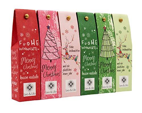 Leo & Lilo Kleiner Weihnachtsgruß, Geschenkset mit 6 Handcremes in zauberhafter Verpackung, Naturkosmetik...