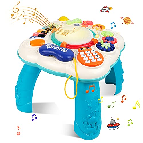 STOTOY Baby Musical Spieltisch, Musikalische Aktivitätstabelle für Kleinkinder, 36 Monate + Musikalischer...