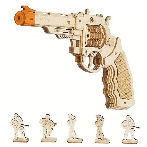 Robotime Corsac M60 3D Puzzle Holz Modellbausatz Erwachsene Spielzeugpistole - Mechanisches...