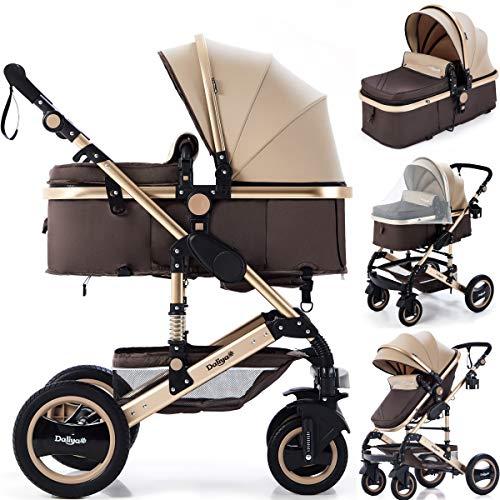 Daliya Bambimo 2in1 Kinderwagen - Kombikinderwagen 9-Teiliges Set incl. Babywanne & Sportsitz/Buggy -...