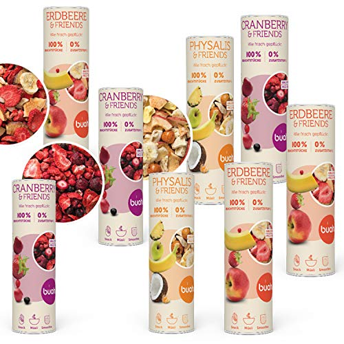 BUAH® Gefriergetrocknet Früchte Gourmet I Probierset I Getrocknete Früchte ohne Zucker I Trockenobst...