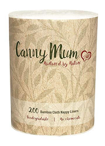 CannyMum Windelvlies für Stoffwindeln & Tücher aus Bambus (200 Blatt/Rolle). Biologisch abbaubare