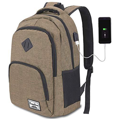YAMTION Rucksack Schule,Schulrucksack für Jungen Teenager und Herren,15.6 Zoll Laptop Rucksack für Arbeit...
