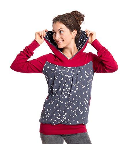 Viva la Mama I Umstandskleidung Damen Schwangerschaftspullover Stillshirt Winter warm lang I Elise - Bordeaux...