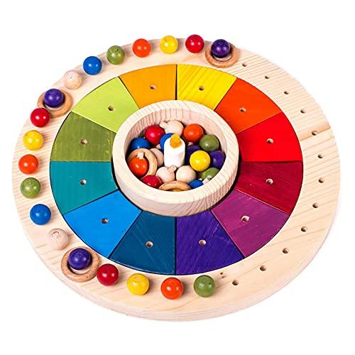 kalender holz kinder jahreszeiten 33 cm, Montessori Pädagogisches Spielzeug, kalender holz 33 cm ,...