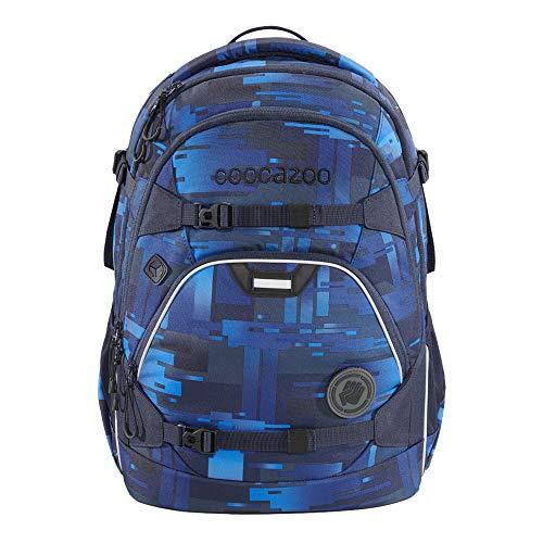 """coocazoo Schulrucksack ScaleRale """"Deep Matrix"""", blau, ergonomischer Tornister, höhenverstellbar mit..."""