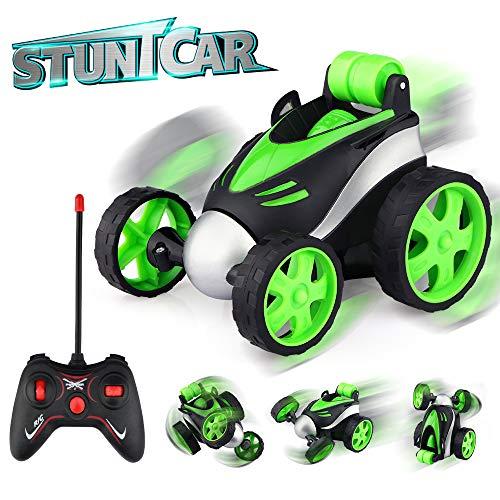 Baztoy Ferngesteuerte Auto, Kinderspielzeug RC Auto Fernbedienung 360°Drehung Mini Stunt Car Motorräder...