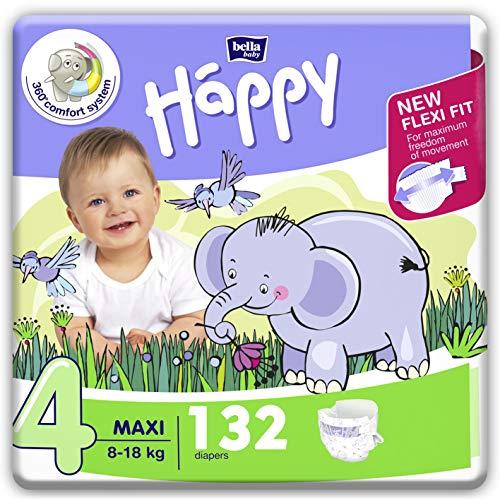 bella baby Happy Windeln für Babys Gr. 4, 8-18 kg, im Monatspack mit perfekter Passform und maximalem Schutz...
