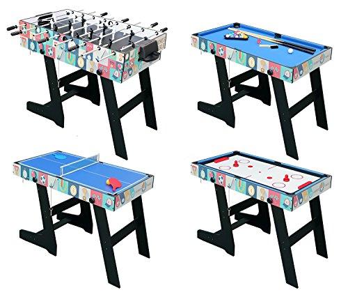 hlc 121.5 * 61 * 81.3 cm Zusammenklappbar 4 in 1 multifunkniertes Tischspiel -...