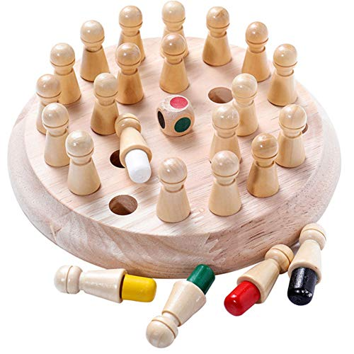 Oulensy Kinder-Party-Spiel aus Holz Memory Match Stick-Schach-Spiel-Spaß-Block Brettspiel Educational Farbe...