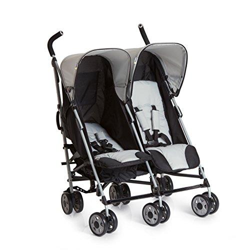 Hauck Turbo Duo Geschwister- und Zwillingskinderwagen bis 36 kg, für Babys und Kleinkinder ab Geburt,...