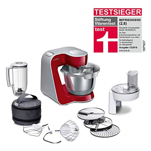 Bosch MUM5 CreationLine Küchenmaschine MUM58720, vielseitig einsetzbar, große Edelstahl-Schüsssel (3,9l),...