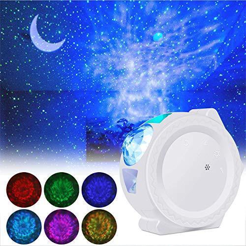 Weihnachten LED Projektionslampe, ALED LIGHT Sternenhimmel Projektor Mondlicht Wasserwellen Projektorlicht mit...
