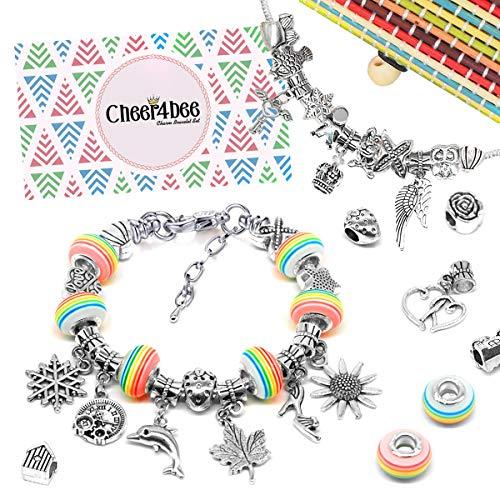 Cheer4bee Charm Armband Kit DIY - Geschenk für Mädchen Teens, adventskalender zum befüllen mädchen...