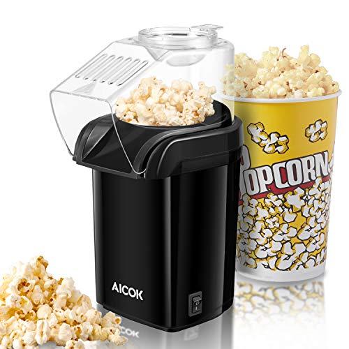 Popcornmaschine, Popcorn Maker Machine für Zuhause, Heissluft Popcornmaker Ohne Fett Fettfrei Ölfrei,...